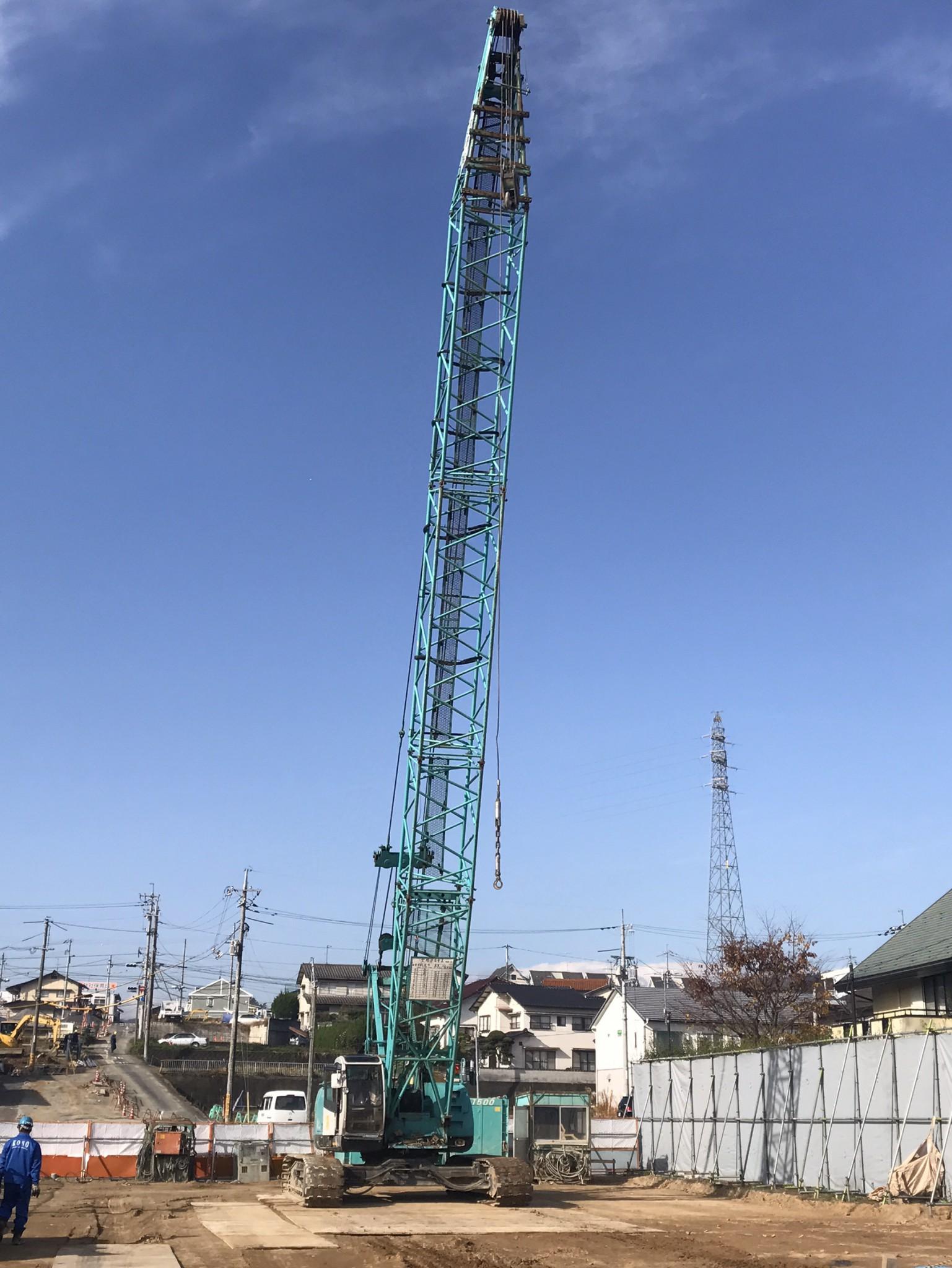 総社川崎線 橋梁下部工 場所打杭 施工開始