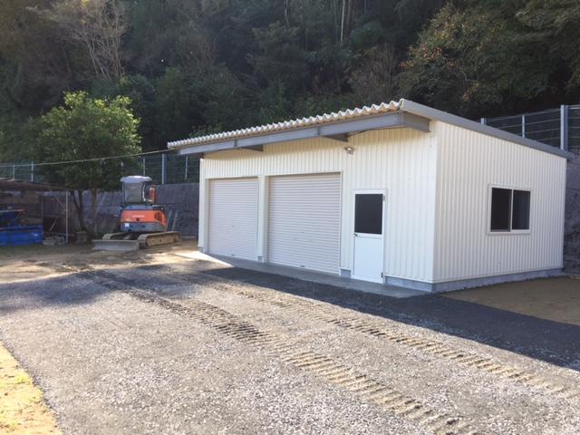 記念すべき第2号。車庫を建てさせていただきました。